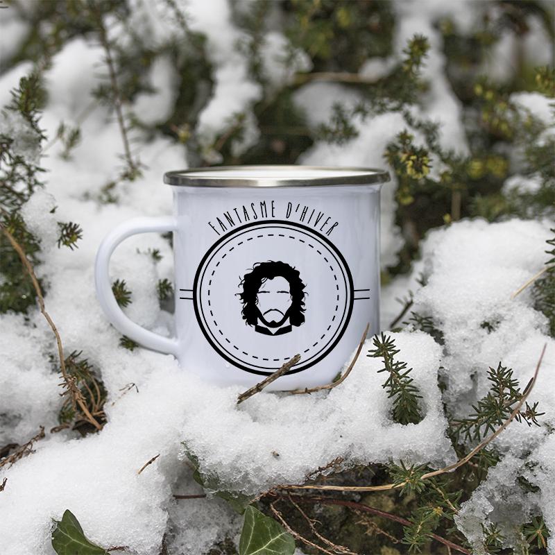 Mug en métal émaillé Jon Snow dans la neige
