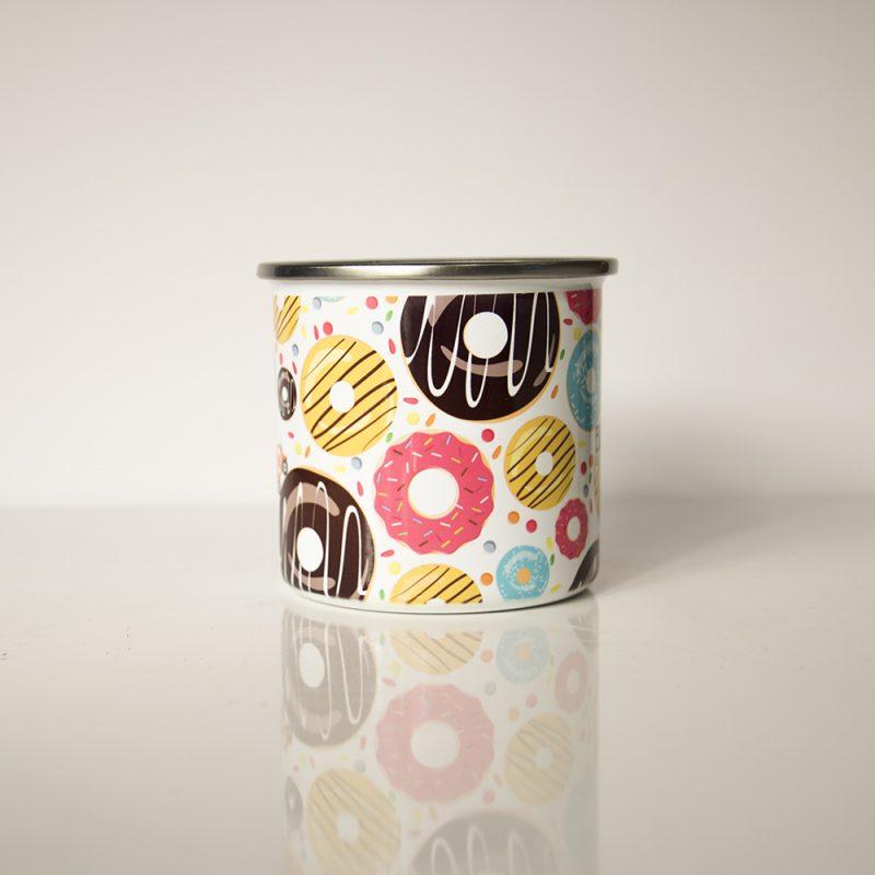 Côté du mug en métal émaillé Sugar