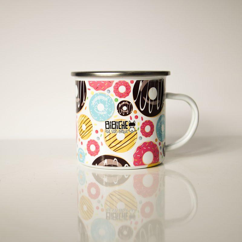 Verso du mug en métal émaillé Sugar