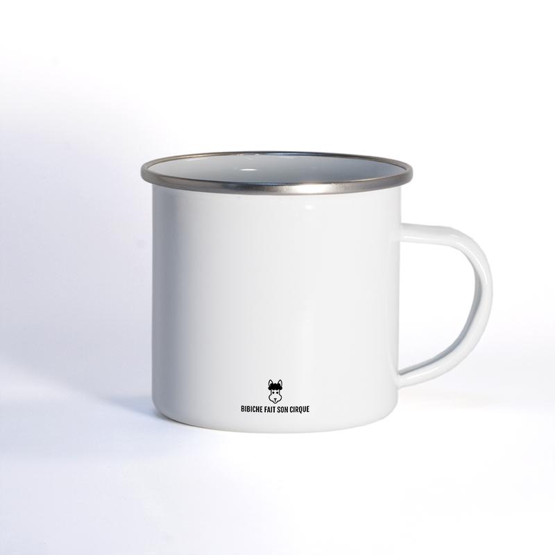 Verso de nos mug en métal émaillé
