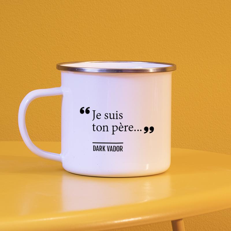 Un mug personnalisé avec une citation de Star Wars