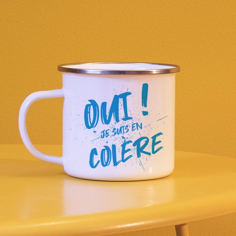 Typographie énervée bleu pour personnaliser vos mugs