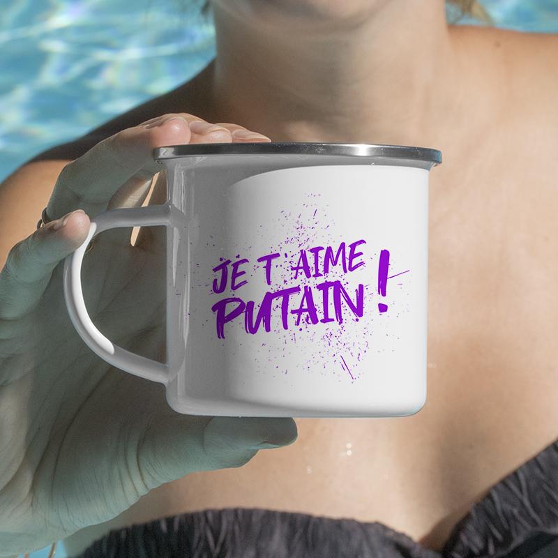 Typographie énervée violet pour personnaliser vos mugs