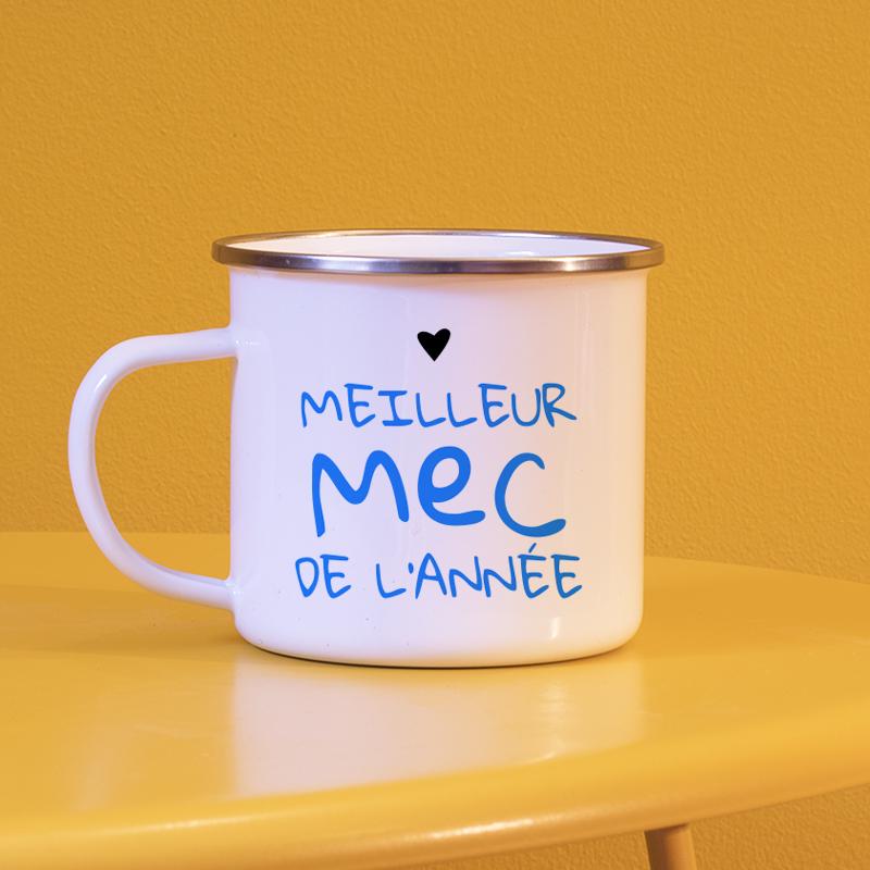 Typographie façon tag bleu pour personnaliser vos mugs