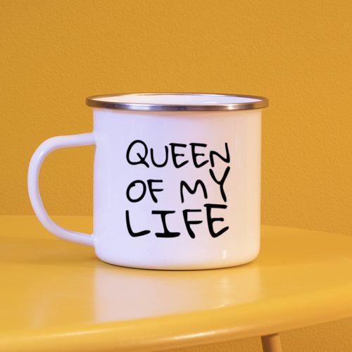 Mug personnalisé façon tag noir