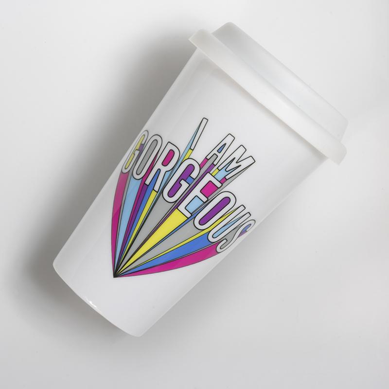 Mug porcelaine Take AwaI am Georgous fond blanc